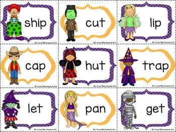 Short Vowel Sound: Three Halloween themed Activities