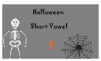 Halloween Short Vowel E Lesson