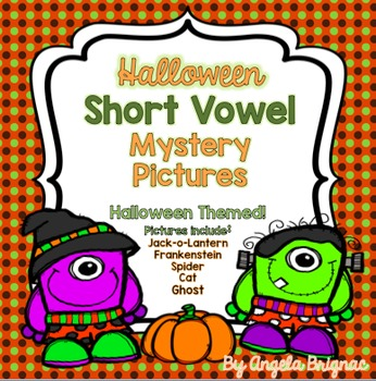 Halloween Short Vowel MYSTERY PICTURES!