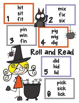 Halloween Short Vowel Roll and Read Bundle
