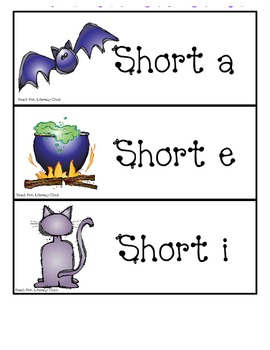 Halloween - Short Vowel Sort - Common Core