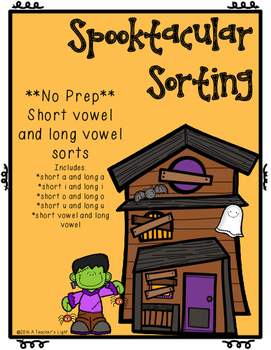Halloween--Short Vowel and Long Vowel sorts