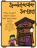 Halloween--Short Vowel and Long Vowel sorts