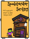 Halloween-Short a and Long a Sort FREEBIE
