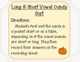 Halloween Short and Long Vowel Sort