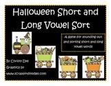 Halloween Short and Long Vowel Word Sort Center Freebie of the Week