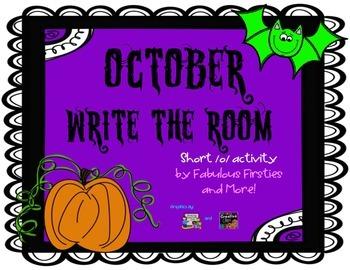 Halloween Short o Write the Room