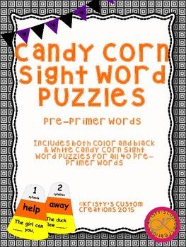 Halloween Sight Word Activity- Pre-Primer Words