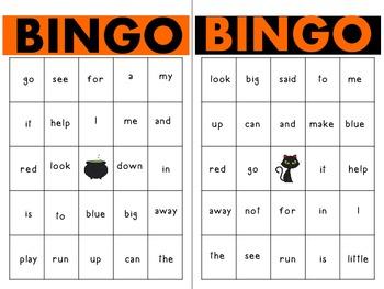 Halloween Sight Word Bingo!