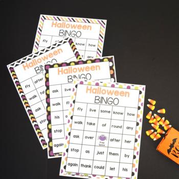 Halloween Sight Word Bingo (First Grade Sight Words)