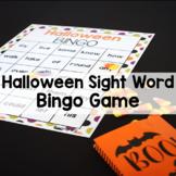 Halloween Sight Word Bingo Game