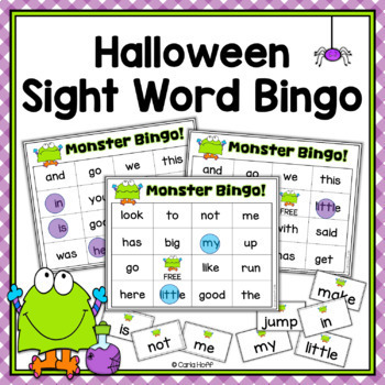 Halloween Sight Word Bingo - Monster Theme