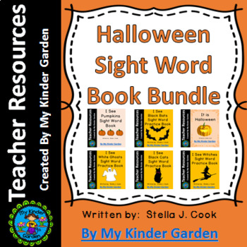 Halloween High Frequency Words Sight Word Book Bundle