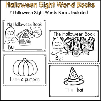 Halloween Sight Word Books