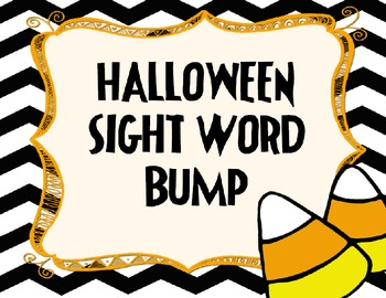 Halloween Sight Word Bump in Color