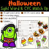 Halloween Sight Word & CVC Word Games (Editable)