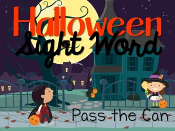 Halloween Sight Word Card Game