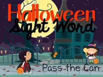 Halloween Sight Word Card Game