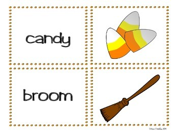 Halloween Word Wall Cards  * Sight Words * Game Cards * Full Color