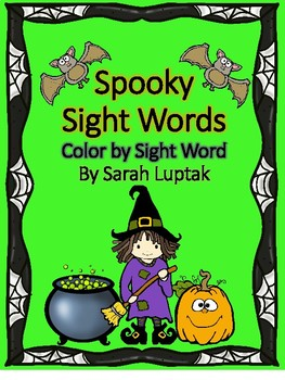 Halloween Sight Word Color By Sight Word Sheets