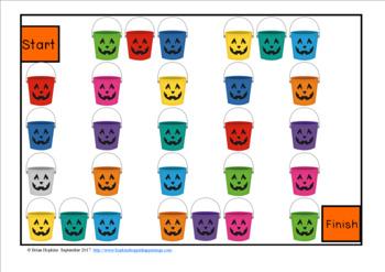 Halloween Sight Word Fluency Phrases Race