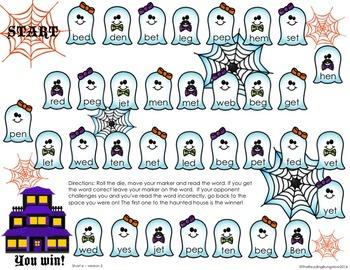 Halloween CVC Word Game - CVC Word Edition