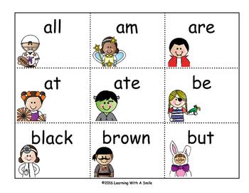 Halloween Sight Word Game - Kindergarten Sight Words - BOO!