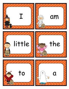 Halloween Sight Word Match