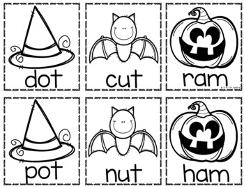 Halloween Sight Word & CVC Word Games (Editable)
