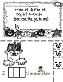 Halloween Sight Word Mix It and Fix It