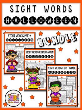 Halloween Sight Word Practice BUNDLE