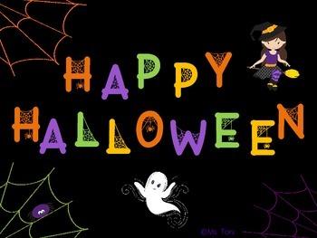 Sight Word Slide Show, Literacy First List A, Words 51-100, Halloween