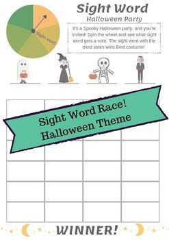 Halloween Sight Word Race!