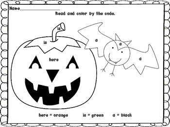 Halloween Sight Word Reader