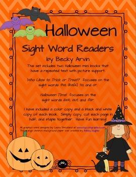 Halloween Sight Word Readers