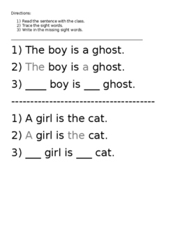 Halloween Sight Word Review