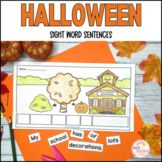 Halloween Sight Word Sentence Writing Activities