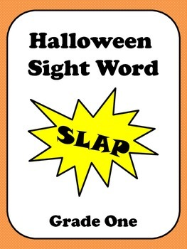 Halloween Sight Word Slap - Grade One