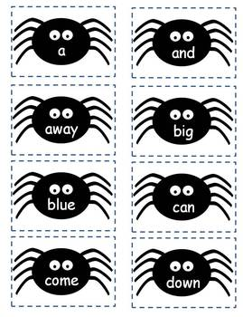 halloween sight word spider game freebie - Halloween Word Game