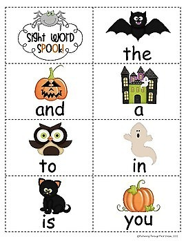 "Sight Word Activities ""Sight Word Spook"" - 100 Sight Words Reading Game"