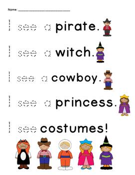 Halloween Sight Word Trace!