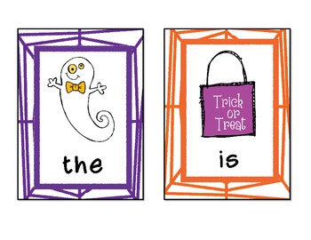 Halloween Sight Word Write the Room