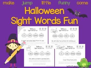 Halloween Sight Words Activities