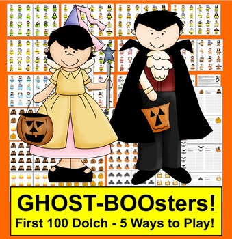 Halloween Sight Words Centers - Ghost BOOsters! and More - First 100 Dolch