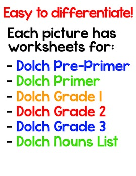 Halloween Sight Words Color-by-Code 3D Characters