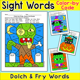 Halloween Activities Color by Sight Words - Differentiated