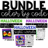 Halloween Sight Words Coloring
