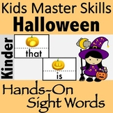 Halloween Sight Words - Hands-On Activities (100 Sight Words)