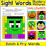 Halloween Activities Sight Words Mystery Pictures - Differentiated