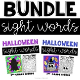 Halloween Sight Words Worksheets with 2nd and 3rd Grade  Words